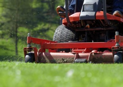 Sports Field Lawn Aeration